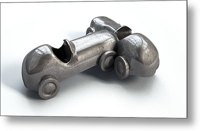 Toy Car Collision Metal Print by Allan Swart