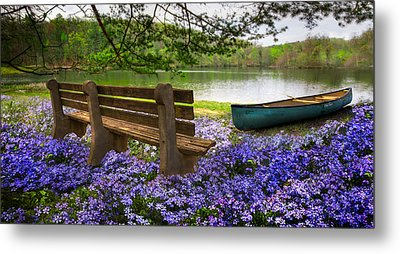 Tranquility Metal Print by Debra and Dave Vanderlaan