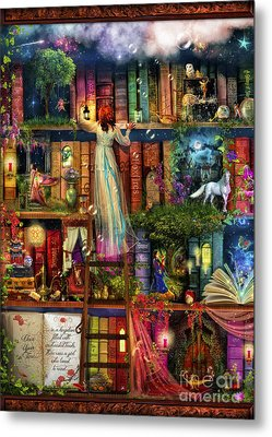 Treasure Hunt Book Shelf Metal Print by Aimee Stewart