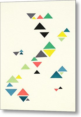 Triangles Metal Print by Cassia Beck