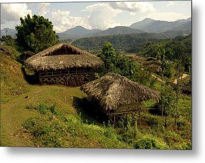 Tribal Homes In Arunachal Pradesh Metal Print