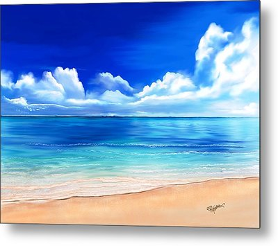 Metal Print featuring the digital art Tropical Blue by Anthony Fishburne