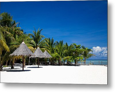 Tropical White Sand Beach Borneo Malaysia Metal Print by Fototrav Print