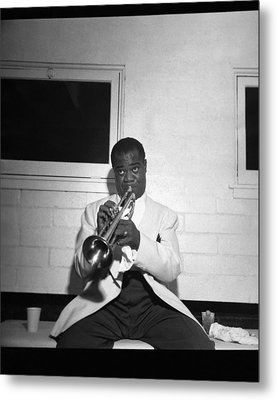 Trumpeter Louis Armstrong Metal Print
