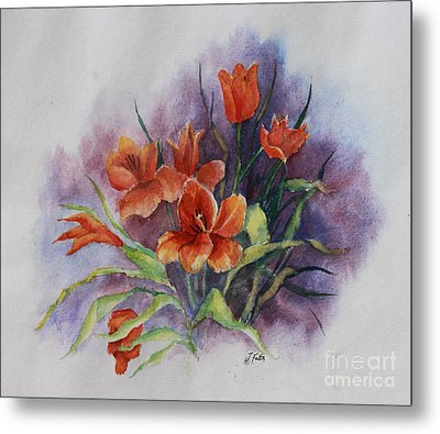 Tulips Metal Print by Janet Felts