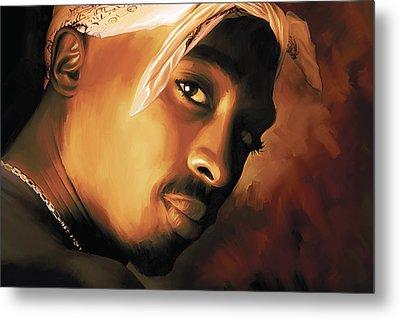 Tupac Shakur Metal Print by Sheraz A