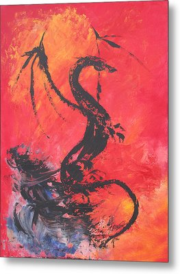 Turbulent Dragon Metal Print