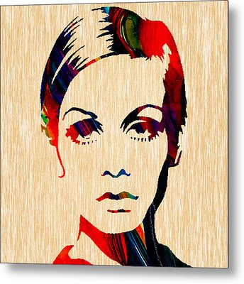 Twiggy Collection Metal Print by Marvin Blaine