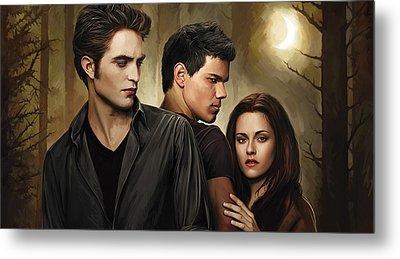 Twilight  Kristen Stewart And Robert Pattinson Artwork 2 Metal Print