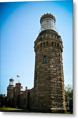 Twin Lights - Lighthouse Metal Print by Colleen Kammerer