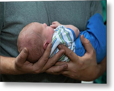 Two-week-old Baby Boy Metal Print by Jim West