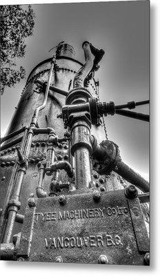 Tyee Steam Donkey Metal Print by R J Ruppenthal