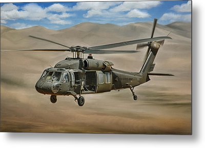 Uh-60 Blackhawk Metal Print
