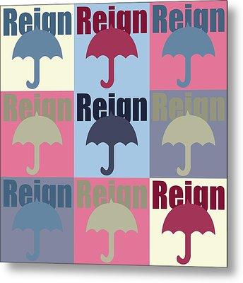 Umbrella In Pop Art  Metal Print