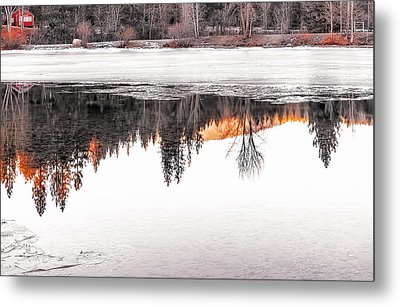 Metal Print featuring the photograph Under The Ice by Nancy Marie Ricketts