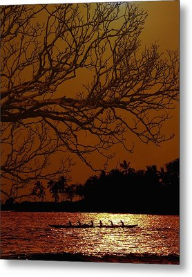 Under The Sunset Metal Print by Athala Carole Bruckner