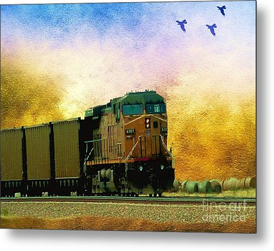 Union Pacific Coal Train Metal Print