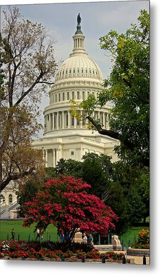 Metal Print featuring the photograph United States Capitol by Suzanne Stout