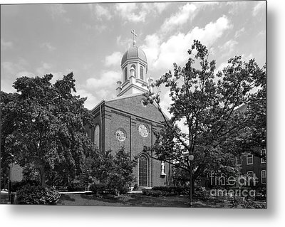 University Of Dayton Chapel Metal Print by University Icons