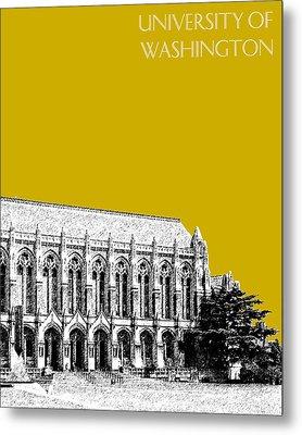 University Of Washington - Suzzallo Library - Gold Metal Print by DB Artist