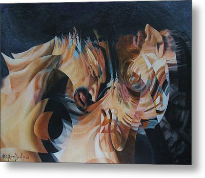 Metal Print featuring the painting Unrequited by Ron Richard Baviello