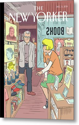 New Yorker December 5th, 2011 Metal Print by Dan Clowes