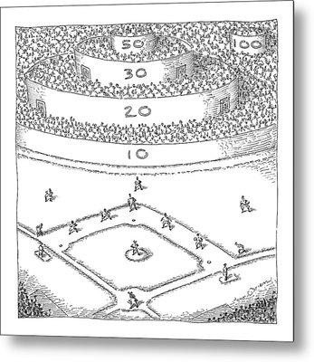 Captionless; Skeeball Baseball Metal Print by John O'Brien
