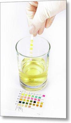 Urine Home Test Kit Metal Print