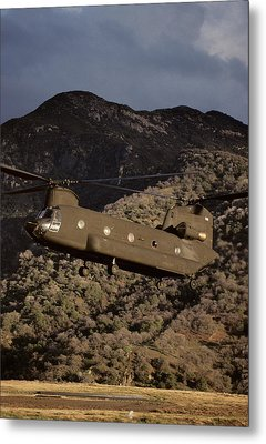 Usa, California, Chinook Search Metal Print