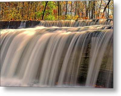 Usa, Indiana Cataract Falls State Metal Print by Rona Schwarz