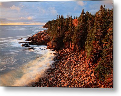Usa, Maine, Acadia National Park, Ocean Metal Print by Joanne Wells