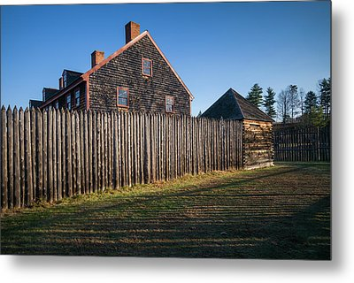 Usa, Maine, Augusta, Old Fort Western Metal Print by Walter Bibikow