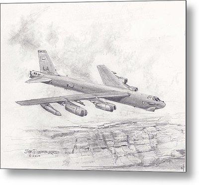 Usaf B-52 Stratofortress  Metal Print