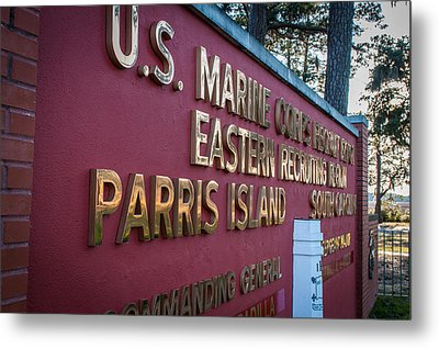 Marine Recruit Depot Metal Print by Roger Clifford