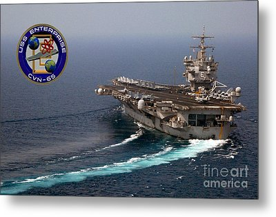 Uss Enterprise Metal Print by Baltzgar