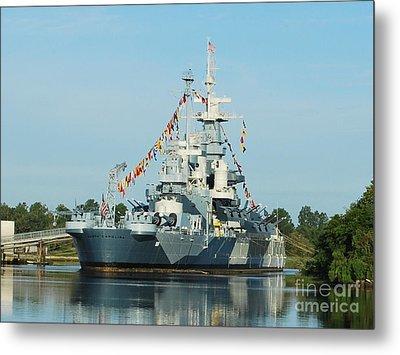 Uss North Carolina Battleship Metal Print by Bob Sample