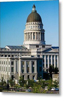 Utah State Capitol Building, Salt Lake Metal Print by Panoramic Images