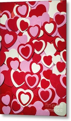 Valentines Day Hearts Metal Print