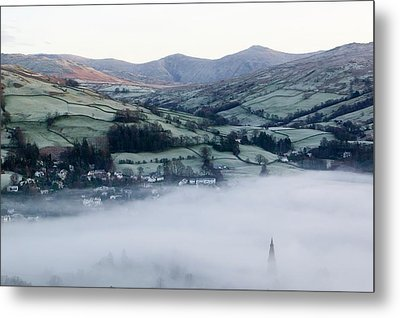 Valley Mists Metal Print