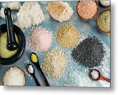 Various Types Of Salt Metal Print