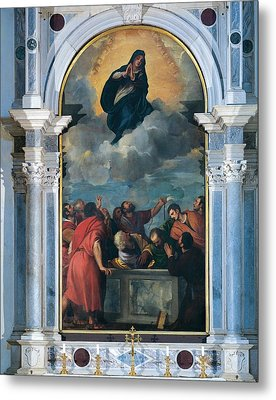 Vecellio Tiziano Known As Titian Metal Print by Everett