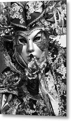 Venetian Mask Metal Print by Yuri Santin