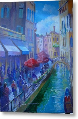 Metal Print featuring the painting Venice  Italy by Paul Weerasekera