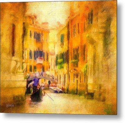 Venice Waterway No. 4 Metal Print by Jane Fiala