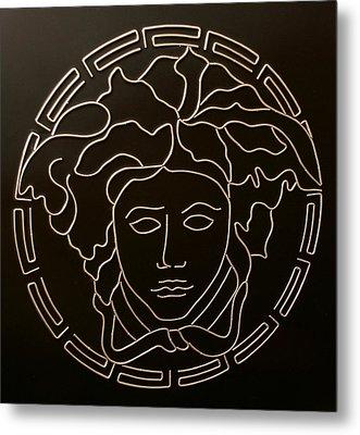 Versace Medusa Head Metal Print by Peter Virgancz