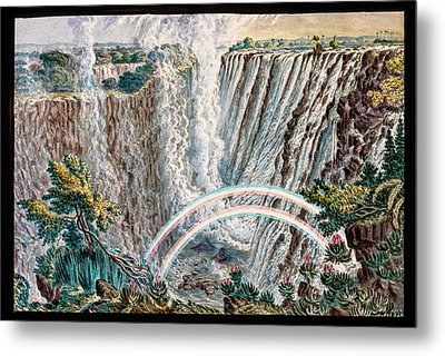 Victoria Falls Rainbows Metal Print by Gustoimages/science Photo Libbrary