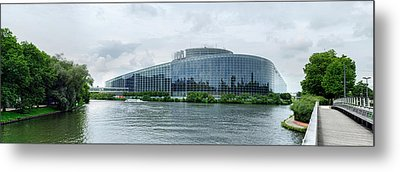 View Of The European Parliament Metal Print by Panoramic Images