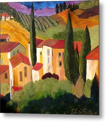 Villas Of Tuscany  Metal Print by Therese Fowler-Bailey