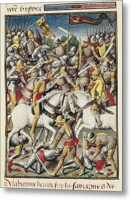 Vincent Of Beauvais 1190-1264. Speculum Metal Print by Everett