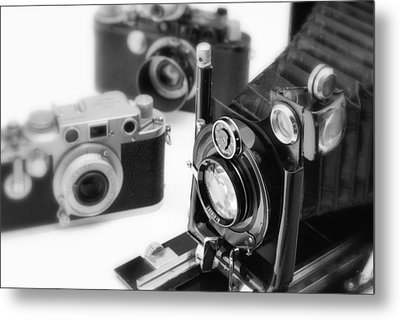 Vintage Cameras Metal Print by Chevy Fleet